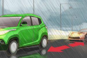 نکات ایمنی رانندگی در باران: رعایت فاصله طولی خودرو