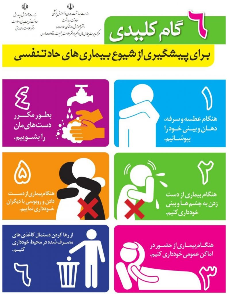 ۶ Key Steps to Preventing the Prevalence of Acute Influenza Diseases infographic